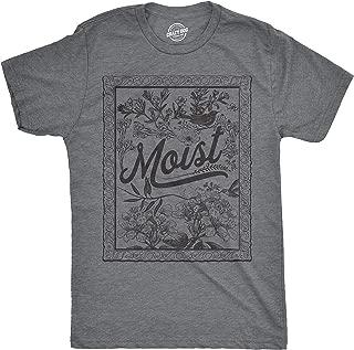 Crazy Dog T-Shirts Mens Moist Floral Print Tshirt Funny Gross Word Tee