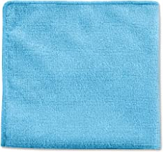 Rubbermaid Commercial 12in x 12in Microfiber Light Duty Cleaning Cloth, Blue, 24-Pack (1820579)