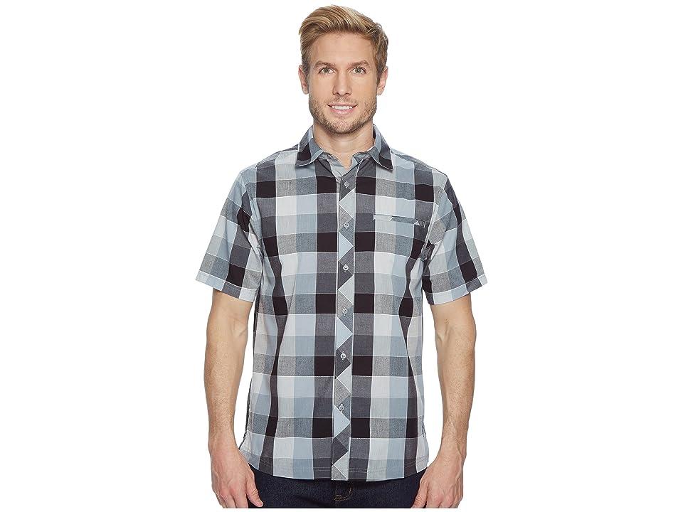 Smartwool Everyday Exploration Retro Plaid Short Sleeve Shirt (Light Gray) Men