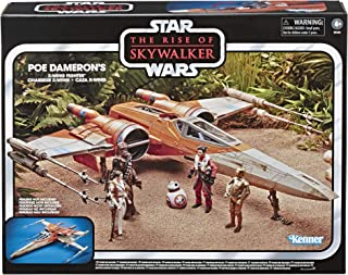 Star Wars The Vintage Collection The Rise of Skywalker Poe Dameron'S X-Wing Fighter Toy Vehicle, Toys for Kids Ages 4 & Up
