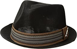 Polyester Sinamay Pinch Front Fedora