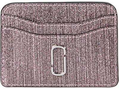 Marc Jacobs Snapshot Glitter Stripe New Card Case (Pink) Wallet Handbags