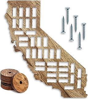 Bright Creations California Wood Wine Cork Holder Board Map Wall Decor