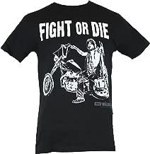 The Walking Dead AMC Mens T-Shirt - Fight or Die Daryl Dixon Side Bike Stance (X-Small) Black