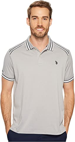Classic Fit Solid Short Sleeve Poly Pique Polo Shirt