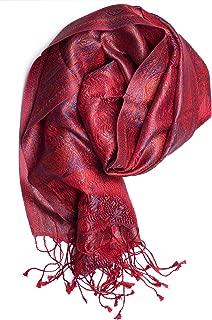 Foulard Pashmina Noir Gris Rouge Floral Wrap Châle Hijab Oversize