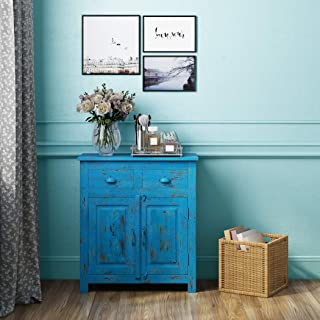 Amazon Com Dressers Chests Of Drawers 2 Blue Dressers Bedroom Furniture Home Kitchen