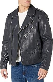 Men's Classic Asymmetrical Faux Leather Motorcycle Jacket