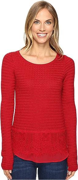 Lace Mix Sweater