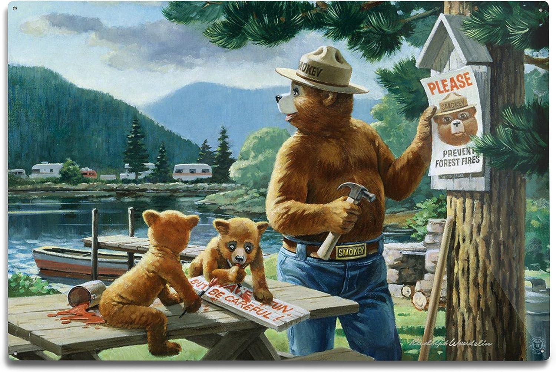 Lantern Press Smokey Bear Posting supreme Vintage Signs Poster 79811 Cheap mail order specialty store