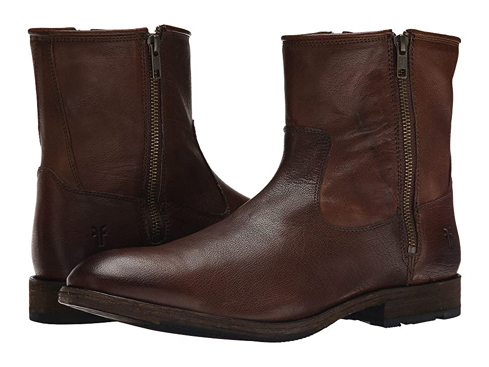 Frye Ethan Double Zip (Dark Brown Buffalo Leather) Men