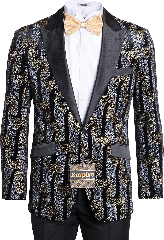 Men's Premium Patterned Tuxedo Jackets & Blazers-Dinner Jackets-Multi Colors