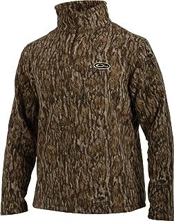Drake MST Camo Camp Fleece 1/4 Zip Pullover (Mossy Oak Bottomland) (Large)