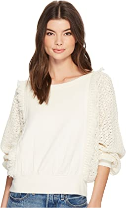 Free People Faff & Fringe Pullover