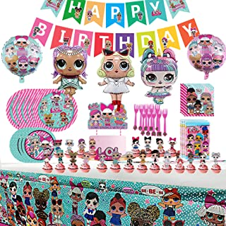 LOL Party Supplies Set - L.O.L Birthday Decorations,10-Kids LOL Theme Party includes Happy...
