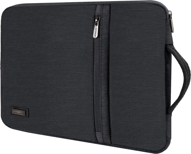 LONMEN 13-13.3 inch Laptop Sleeve Case Water-resistant Handle Bag for MacBook Air/Surface Book/Lenovo Flex 6/ThinkPad L380 X380 Yoga/X1 Carbon/HP EliteBook 830 G5/Dell Inspiron 14/ASUS ZenBook UX330UA