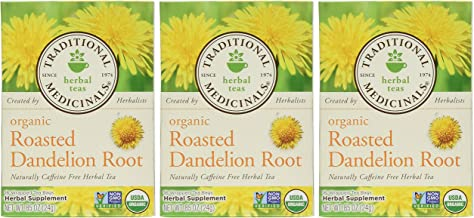 Traditional Medicinals Organic Roasted Dandelion Root, 16-Count (Pack of 3)