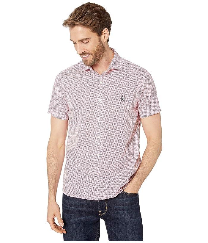 Psycho Bunny Dovestone Short Sleeve Shirt (Anemone) Men