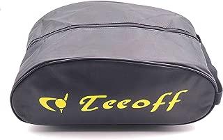 Teeoff Zipper Space Saver Gym Sport Sock Organizer Golf Shoe Bag (Yellow Letter, X-Large)
