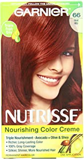 Garnier Nutrisse Permanent Haircolor, 66 True Red Pomegranate