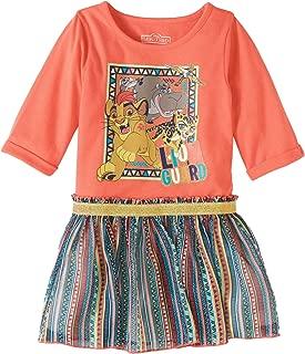 Disney Lion Guard Toddler Girls Orange & Blue Kion & Fuli Tulle Dress
