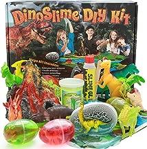 Alpine Summit DinoSlime Mega Kit - 12 Dinosaurs, Volcano, 5 Dino Eggs That Hatch, Play Mat, and Bonus Slime DIY Kit