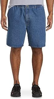 Harbor Bay by DXL Big and Tall Elastic-Waist Denim Shorts, Med Stonewash Denim