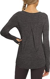 Bestisun Womens Long Sleeve Workout Tops Yoga Long Sleeve Tops Athletic Shirts Workout Clothes Hiking Sport Top Activwear ...