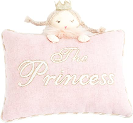 MON AMI Princess Designer Plush Pillow,  Pink,  8X11