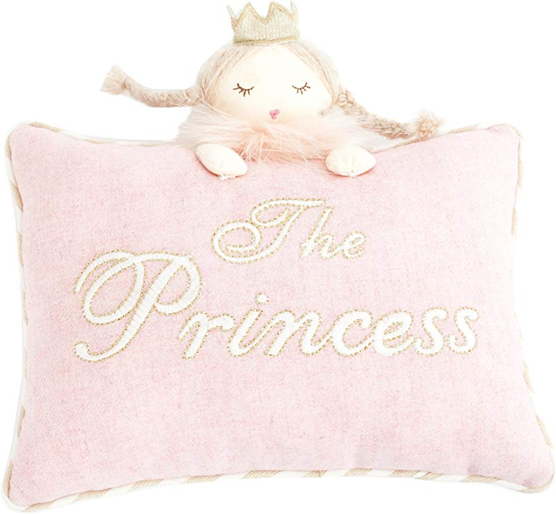 MON AMI 8x11 Pink Princess Designer Plush Pillow 8 X 11 Pink