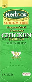 Hormel Herb Ox Chicken Bouillon Sodium Free 50 Packets