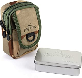 JEO-TEC Nylon Tactical Multi-Purpose Gadget Utility Military Waist Pouch Bag + Tin Box for Survival kit, Camping Hiking Pouch