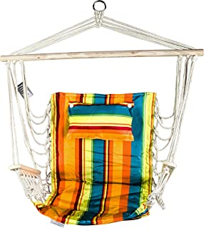 BACKYARD EXPRESSIONS PATIO · HOME · GARDEN 913774 Hammock Hanging Provides The Ultimate Comfort and Chair Appeals to All Ages, Fruit Stripes