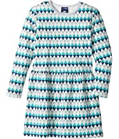 Toobydoo - Geo Blue Skater Dress (Toddler/Little Kids/Big Kids)