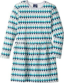 Geo Blue Skater Dress (Toddler/Little Kids/Big Kids)