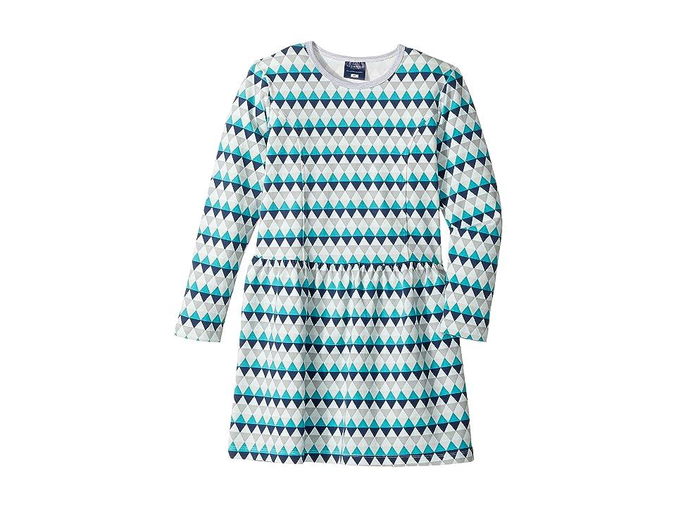 Toobydoo Geo Blue Skater Dress (Toddler/Little Kids/Big Kids) (Multi Blue) Girl