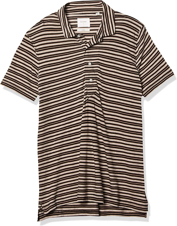 Billy 注目ブランド セール商品 Reid Men's Short Sleeve Shirt Standard Polo Fit