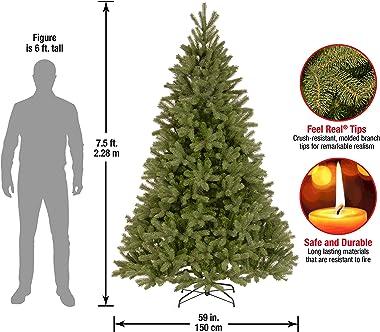 National Tree Company Feel Real Downswept Douglas Fir Tree, 7.5 ft, Green