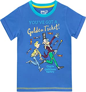 Roald Dahl Boys Charlie and The Chocolate Factory T-Shirt