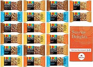 KIND Breakfast Bars 40 Bars Variety Pack - 5 Flavors - Blueberry Almond, Honey Oat, Almond Butter (Protein), Dark Chocolat...