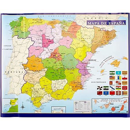 Cartina Della Spagna Geografica.Grupo Erik Editores Mini Poster Mappa Della Spagna Amazon It Casa E Cucina