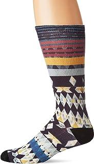 Unionbay Men's Fashion Print Crew, blue, Sock Size:10-13/Shoe Size: 6-12