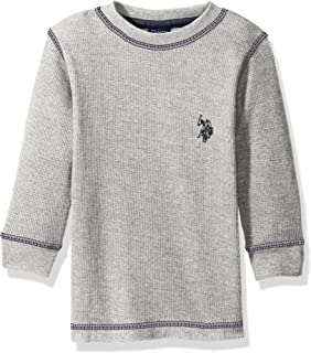 Boys' Long Sleeve Solid Crew Neck Thermal