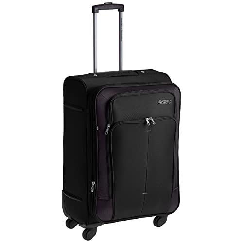 1d3bed5a2ca5 American Tourister Crete Polyester 67 cms Black Softsided Suitcase (49W (0)  09 002