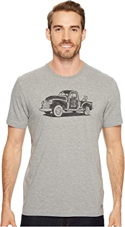 Life is Good - Old School Truck Crusher Tee