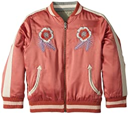 Stella McCartney Kids - Willow Embroidered Reversible Bomber Jacket (Toddler/Little Kids/Big Kids)
