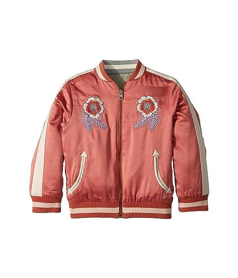 Stella McCartney Kids Willow Embroidered Reversible Bomber Jacket (Toddler/Little Kids/Big Kids)