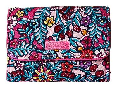 Vera Bradley Iconic RFID Riley Compact Wallet (Kaleidoscope) Wallet Handbags