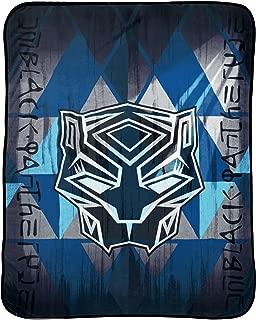 Jay Franco Marvel Black Panther Blue Tribe Plush Throw
