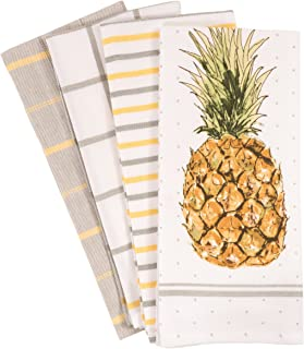 Best KAF Home Pantry Pineapple Kitchen Dish Towel Set of 4, 100-Percent Cotton, 18 x 28-inch Review